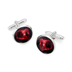 Valentine's day gift ideas for him Heart Nebula Cufflinks