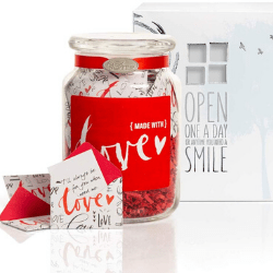 Valentine's day gift ideas for him Keepsake Jar of Messages