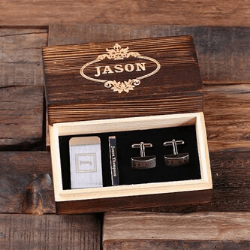 Valentine's day gift ideas for him Personalized Gentleman's Gift Set